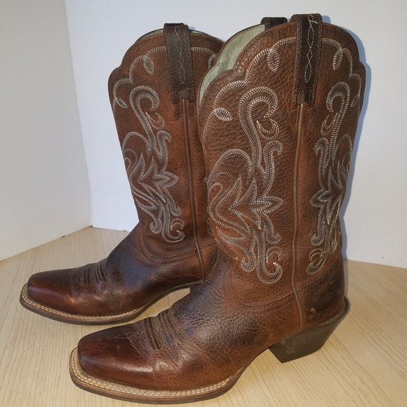 f964afbf118 Ariat Shoes - ARIAT WOMEN LEGEND BROWN OILED ROWDY BOOTS
